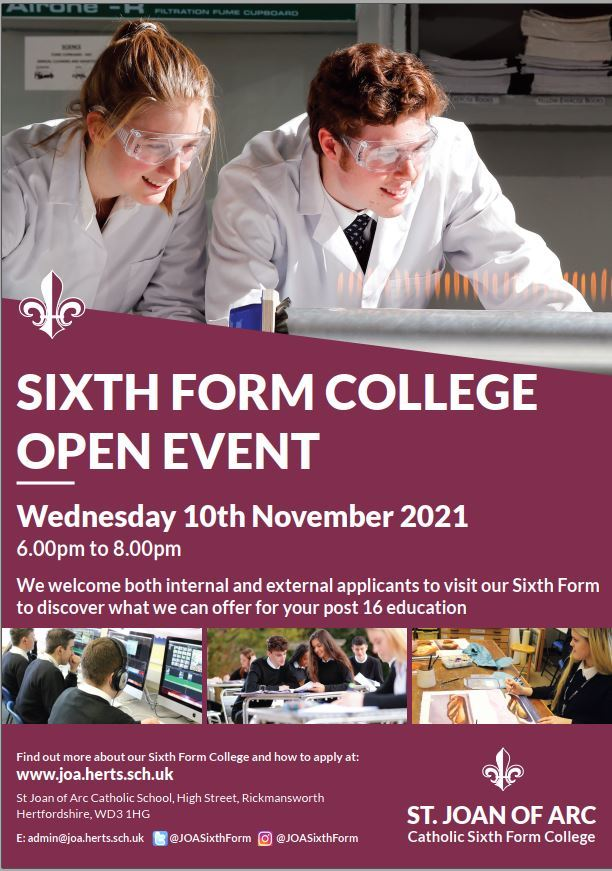 Open evening 6th form
