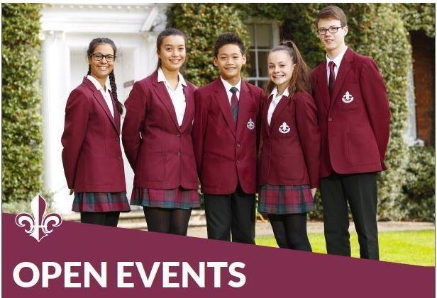 Open events header